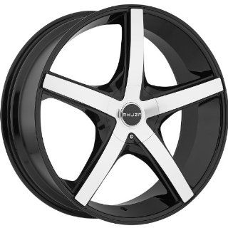 Akuza Axis 18 Machined Black Wheel / Rim 5x115 & 5x120 with a 20mm Offset and a 74.1 Hub Bore. Partnumber 848880055+20GBM: Automotive