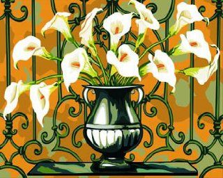 Elegant Calla acrylic (2013 New DIY paint by number 16*20'' kit) Arts, Crafts & Sewing