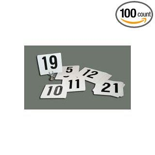 Winco Plastic Table Numbers   1 to 100 Numbers, 4 x 3 3/4 inch    1 set.: Industrial & Scientific