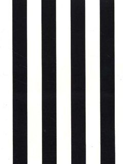 Wallpaper Black and White Stripe, 1.25 Inch Wide Stripes