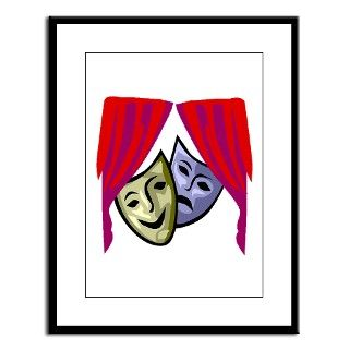 COMEDY & TRAGEDY MASKS Large Framed Print by everything_shop
