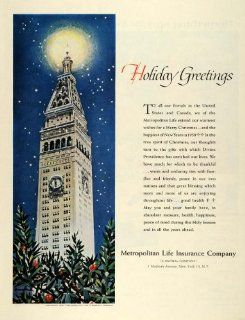 1957 Ad Metropolitan Life Insurance Company 1 Madison Ave New York Clock Tower   Original Print Ad