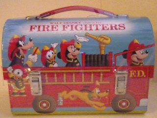 """Hallmark School Days 2000 Walt Disney Character """"Fire Fighers"""" Dommed Lunch Box with Coa and Limited Edition Number Toys & Games"""