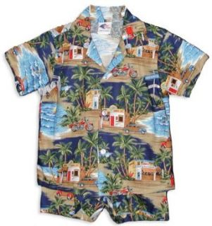 Trip To The Beach Boys Hawaiian Shirts and Matching Pants   Boys Set Hawaiian: Clothing