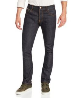 Nudie Jeans Men's Grim Tim Straight Slim Jean in Organic Dry Selvage at  Men�s Clothing store
