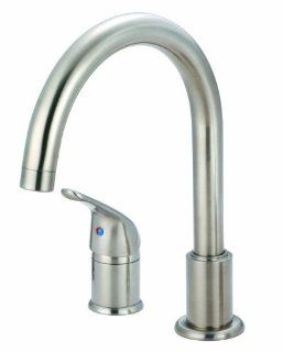 Pioneer 2PM330 BN Premium 2 Hole Kitchen Faucet Single Handle Nickel   Touch On Kitchen Sink Faucets
