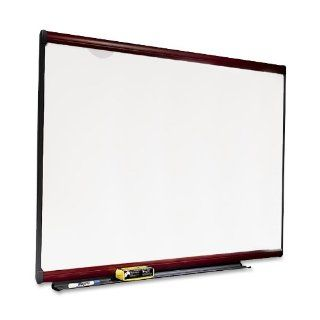 Quartet P558M Quartet Premium Dry Erase Board, Porcelain/Steel, 96 x 48, White/Mahogany Frame: Office Products
