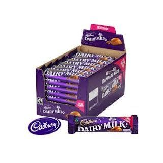 Cadbury Dairy Milk New Shape   Case of 48 (45g bars)  Candy And Chocolate Bars  Grocery & Gourmet Food