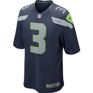 NFL Nike Russell Wilson Seattle Seahawks Youth Game Jersey   Navy Blue (Small) : Sports Fan Jerseys : Sports & Outdoors