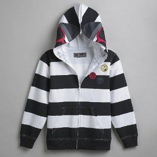 Scarce Boy's Skeleton Face Hood Sweatshirt Jacket, Size L (14 16) : Everything Else