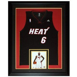 LeBron James Miami Heat (Black #6) Deluxe Framed Jersey: Sports Collectibles