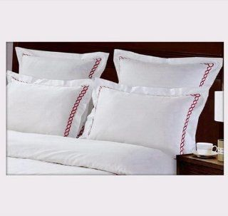 7 PIECE WHITE WITH RUBY OR RED EMBROIDERED TWIN SIZE AMY EMBROIDERED DOWN ALTERNATIVE BED IN A BAG COMFORTER SET INCLUDING 100% EGYPTIAN COTTON DUVET SET + SHEET SET+ DOWN ALTERNATIVE COMFORTER. ITEM # S