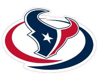 Houston Texans Team Auto Window Decal (12 x 10  inch) : Sports Fan Automotive Magnets : Sports & Outdoors