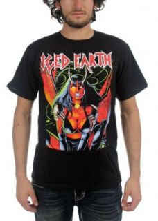 Iced Earth   Mens Crouching Woman T Shirt In Black: Clothing