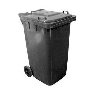 Mobile Trash Can   64 Gallon Gray   Waste Bins