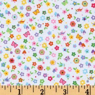 44'' Wide Michael Miller Happy Hills Lil' Bitty Multi Fabric By The Yard: Arts, Crafts & Sewing