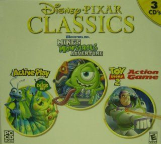 Disney Pixar Classics A Bugs Life/Monstrous Adventures/Toy Story 2   PC Video Games