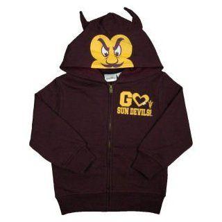 Arizona State Sun Devils NCAA Toddler 3D Mascot Zip Hoodie : Sports Fan Sweatshirts : Sports