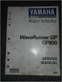 1998 1999 2000 2001 Yamaha WaveRunner GP GP800 Service Shop Repair Manual OEM: yamaha: Books