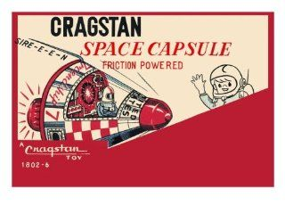 Cragstan Space Capsule Wall Decal Without border: 29.5 x 19.5 in: Home Improvement
