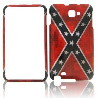Samsung Galaxy Note i717 US Confederate Flag HARD COVER CASE PROTECTOR SNAP ONr C: Cell Phones & Accessories