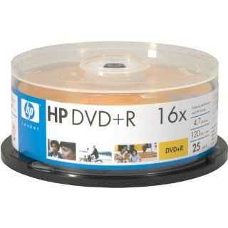 HP 16x Write Once DVD+R Spindle with Ink Jet Printable Surface: Electronics
