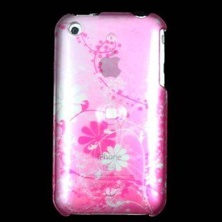 Cuffu   Pink Flower   Apple iPhone 3G / 3G S Case Cover + Screen Protector Perfect for Sprint / AT&T (Cingular) / Nextel / Tmobile / Verizon / Alltel / U.S. Cellular / Virgin Mobile / Boost Mobile / MetroPCS / Cricket / SunCom / Qwest Wireless / Helio