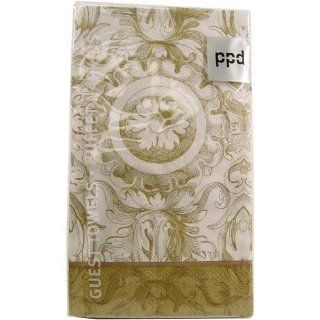 Gold Baroque Towels or buffet napkins 15 count per pack, Three: Kitchen & Dining