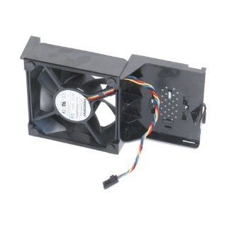 Optiplex GX520 Case Cooling Foxconn Nidec Sunon Fan With Shroud Assembly, Compatible Dell Systems: GX620, 320, 330, 360, 740, 745, 755, 760, 780, Dimension 210L, C5214, 3100C Desktop (DT) Systems, Compatible Dell Part Numbers: M6792, U7581, X837C, PD812, Y
