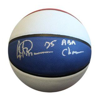 "Artis Gilmore Autographed Basketball   with ""75 ABA Champs"" Inscription   Autographed Basketballs: Sports Collectibles"