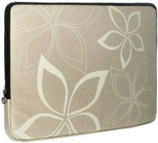 13 inch Beige Stylish Abstract Floral Beige Laptop Sleeve Computer Notebook Carrying Case for Apple MacBook Air 13, Dell, Acer, Samsung: Computers & Accessories