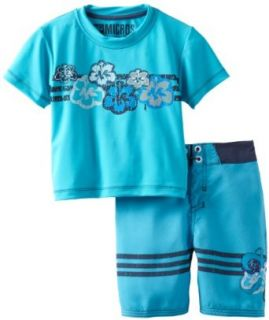 Micros Boys 2 7 Deep Sea Flower Toddler's Swin Set: Clothing
