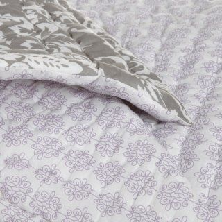 Pinzon 100 Percent Cotton Printed Full/Queen Quilt Set, Taupe Damask   Taupe Comforter Set