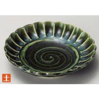 sushi plate kbu302 10 102 [7.09 x 1.58 inch] Japanese tabletop kitchen dish Maruwa dish total Oribe chrysanthemum percent medium sized dish [18x4cm] farm product Japanese restaurant inn restaurant business kbu302 10 102: Kitchen & Dining