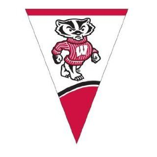 Creative Converting University of Wisconsin Plastic Flag Banner, 10.5 Feet: Kitchen & Dining