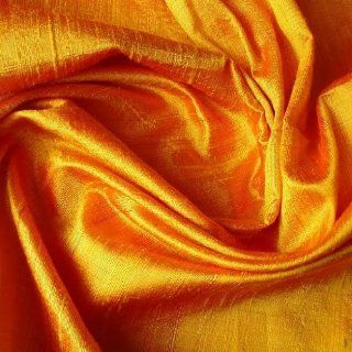 "41"" Wide Peach Pink Silk  100 Percent Pure Silk Dupioni Fabric By the Yard"