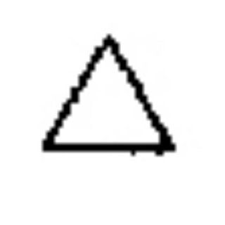 Contemporary Design Stamp, Equilateral Triangle   PUN 103.33