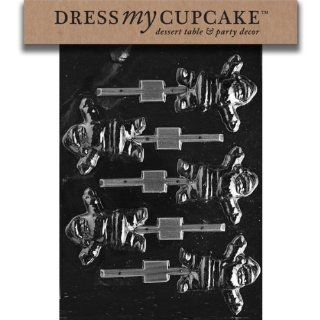 Dress My Cupcake DMCC113SET Chocolate Candy Mold, Chubby Waving Santa, Set of 6: Kitchen & Dining