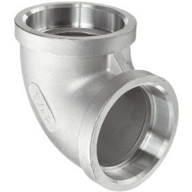 Stainless Steel 304 Cast Pipe Fitting, 90 Degree Elbow, Socket Weld, MSS SP 114, Female: Industrial Pipe Fittings: Industrial & Scientific
