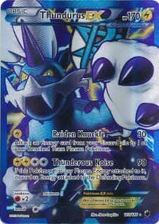 Thundurus EX Full Art Ultra Rare 110/116 Pokemon Plasma Freeze Single Trading Card: Everything Else