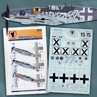 Bf 109 G: Augsburg's Flyers, Part 1: Luftwaffe, Bulgarian AF (1/32 decals): Toys & Games