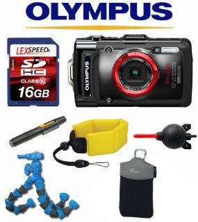 Olympus Stylus TG 2 TG2 T G2 iHS + Floating Strap + Flexpod + LowePro Case + 16GB Kit: Camera & Photo