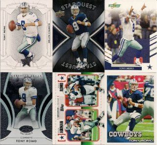 Dallas Cowboys Lot of 6 Cards Tony Romo : Other Products : Everything Else
