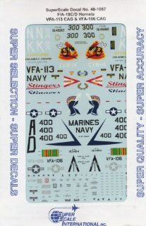 F/A 18 C/D Hornet: VFA 106, 113 (1/48 decals, Superscale 481087): Toys & Games