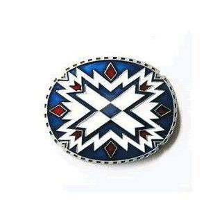 Western Native American Indian Art Belt Buckle (WT 117) Clothing