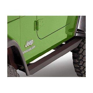 Nerf Bar, Rectangular Rubicon Black 1992 2006 Jeep Wrangler YJ, TJ # 560 124: Automotive