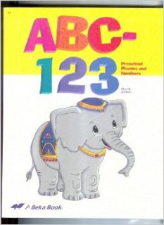 ABC 123 Preschool Phonics and Numbers Workbook: Ellen Teuscher, Elmina Richardson: Books