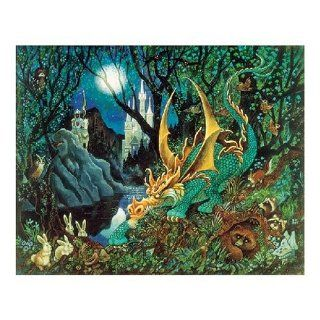 It Was a Dark and Scary Night Dragon Jigsaw Puzzle 125pc Toys & Games