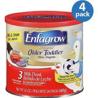 Enfagrow Premium Older Toddler Milk Drink Powder 4 pack; 24 Oz.each : Baby Formula : Grocery & Gourmet Food
