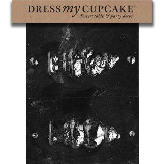 Dress My Cupcake DMCC129SET Chocolate Candy Mold, 3D Santa Sack on Back, Set of 6: Kitchen & Dining
